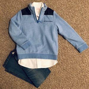 Boys VINEYARD VINES 1/4 Zip Shep Shirt Size 6